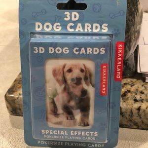 Kikkerland 3D Dog Card's poker size playing Cards